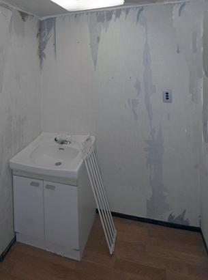 うら寂しい洗面台