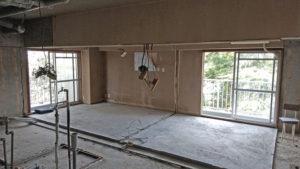 神奈川県で行ったマンションスケルトンリフォームの解体後