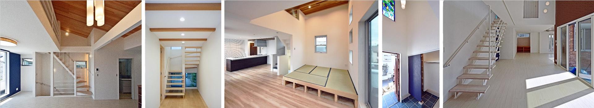 神奈川のデザイン住宅の内観