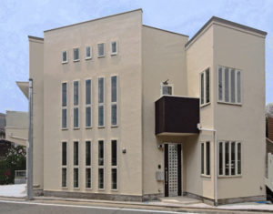 滝沢設計が設計した神奈川県でのデザイン住宅の外観