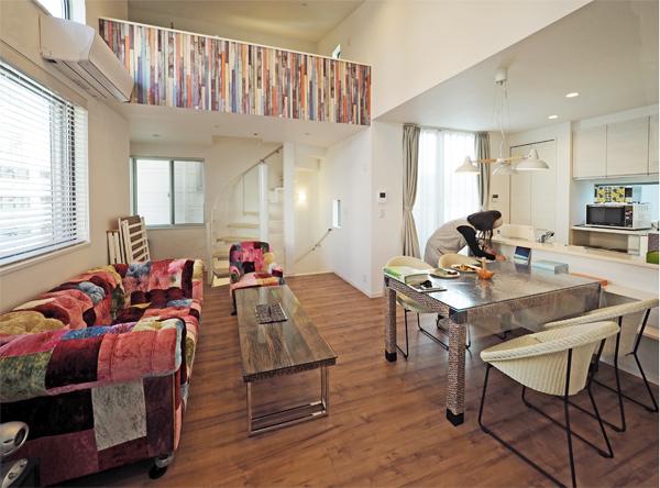 滝沢設計が設計した神奈川の賃貸併用住宅のリビング