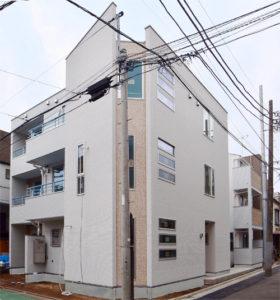 都内でのアパート設計実例