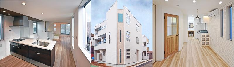滝沢設計の賃貸併用住宅の完成画像