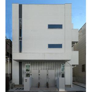 キュービクルな四角い建物外観のローコスト住宅